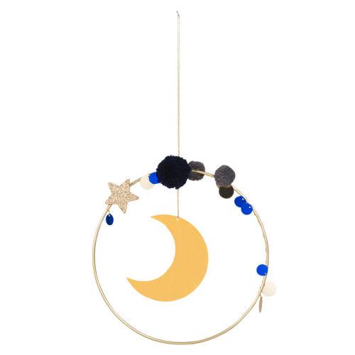 Decorazioni Natalizie Maison Du Monde.Decorazione Da Parete Luna In Metallo Dorata 18x18 Cm