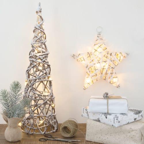 Decorazioni Luminose Natalizie.Decorazione Natalizia Da Appendere Stella Luminosa Maisons Du Monde