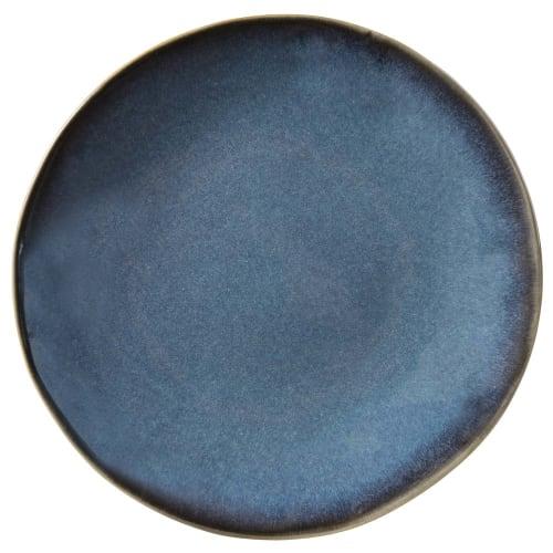 Dessertbord van blauw aardewerk