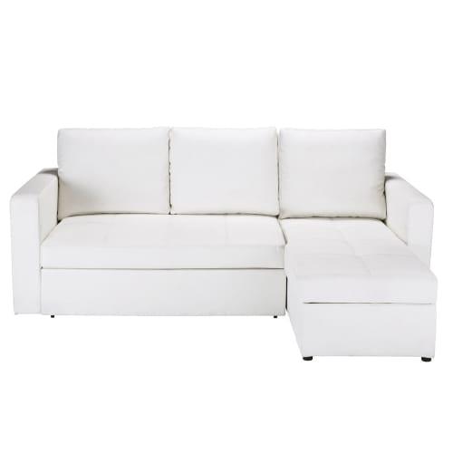 Divani angolari trasformabile bianco 3 posti