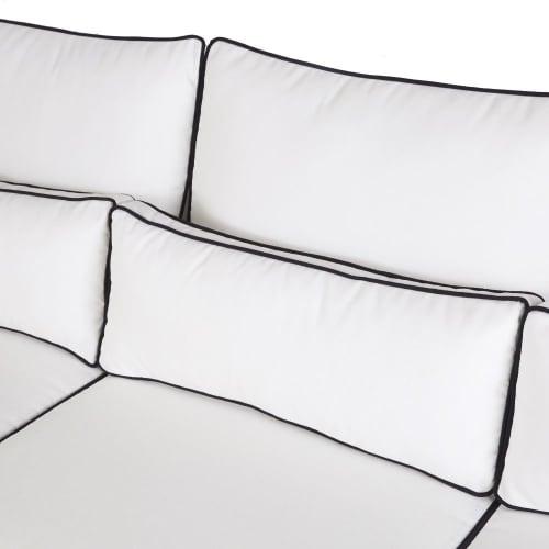 Cuscini Bianchi Per Divani.Divano Da Giardino In Alluminio E Cuscini Bianchi Hotel Maisons