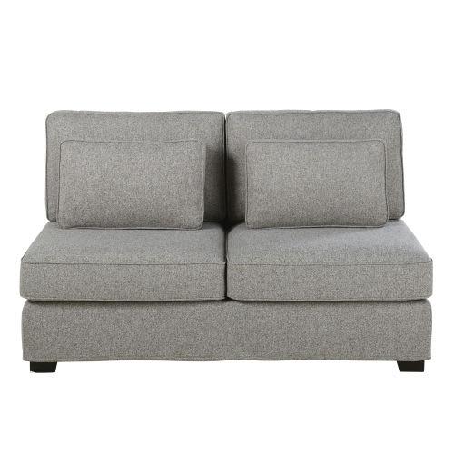 bas prix c5aca 502a3 Double chauffeuse de canapé gris chiné