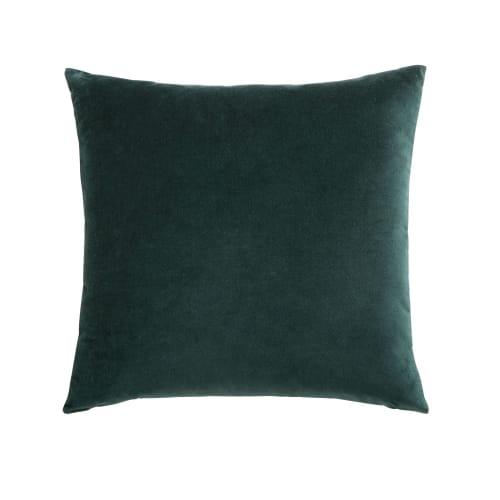 Emerald Green Velvet Cushion 45x45 Maisons Du Monde