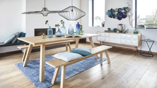 Esstisch für 6 Personen aus massivem Eichenholz, L220
