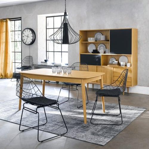 Extendible 6 10 Seater Dining Table L160 230 Bronx Maisons Du Monde