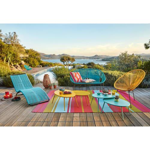 La collection de chaises, fauteuils et bancs de jardin Copacabana de Maisons du Monde