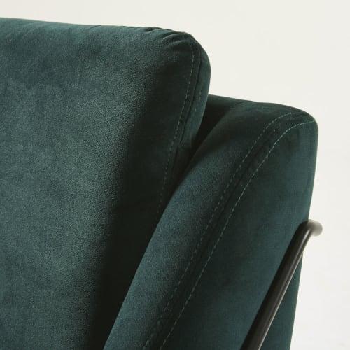 Fauteuil en velours vert | Maisons du Monde