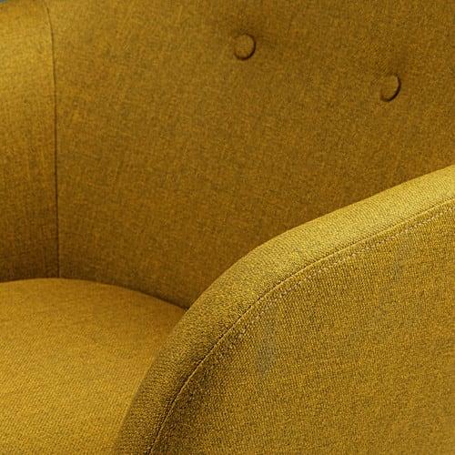 fauteuil vintage jaune olive arnold maisons du monde. Black Bedroom Furniture Sets. Home Design Ideas
