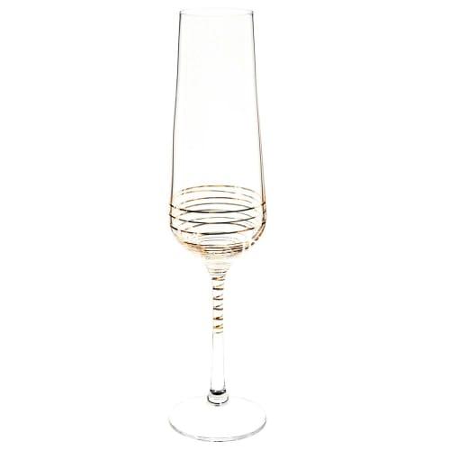 Flûte à champagne en verre coloris or  Maisons du Monde