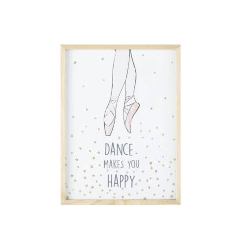 Frame with Star and Ballerina Print 30x40 | Maisons du Monde