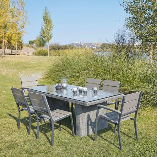 Garden Chair In Aluminium And Composite, Composite Outdoor Furniture