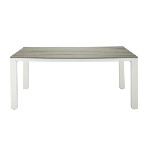 Gartentisch Für 6 Personen.Gartentisch 6 Personen Aus Aluminium Und Verbundwerkstoff L180 Maisons Du Monde