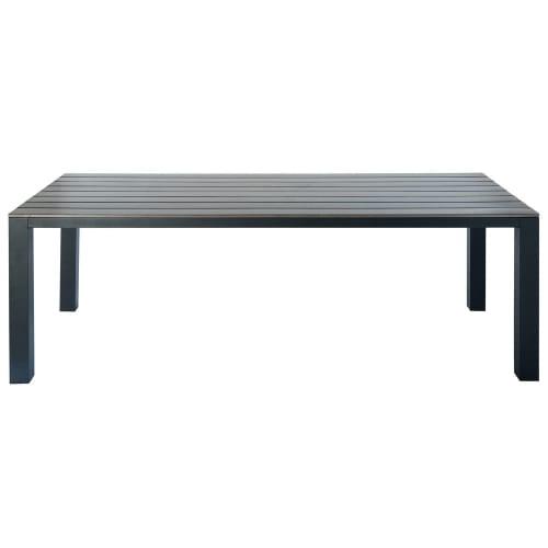 Gartentisch Aus Aluminium 810 Personen L230 Grau Anthrazit