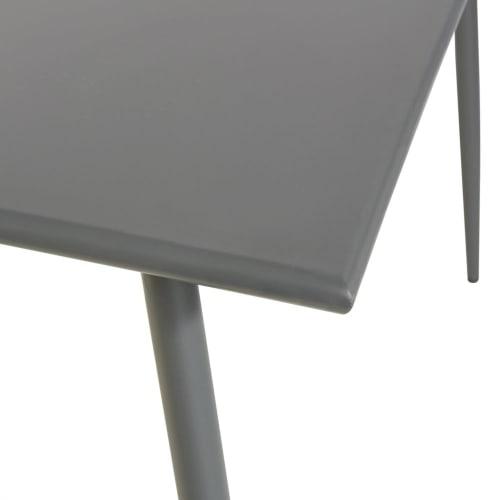 Gartentisch Aus Anthrazitgrauem Metall Für 8 Personen L120