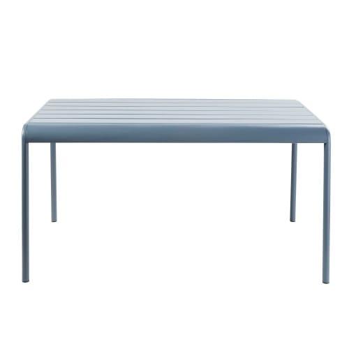 Gartentisch Für 6 Personen.Gartentisch Aus Graublauem Metall Für 4 6 Personen L140 Maisons Du Monde
