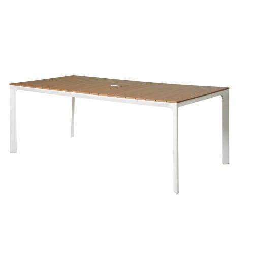Gartentisch Aus Weißem Aluminium Für 68 Personen L200