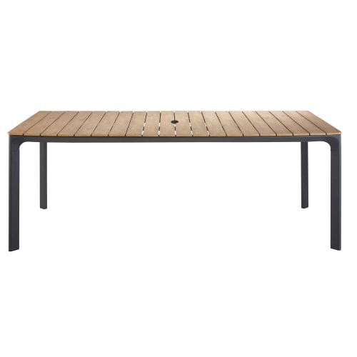 Gartentisch Für 6 Personen.Gartentisch Für 6 8 Personen Aus Verbundmaterial Und Aluminium L200 Maisons Du Monde