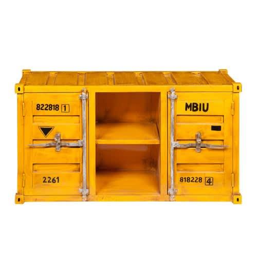 Geel Metalen Container Tv Meubel B129