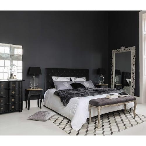Gestepptes Bett Aus Samt Mit Lattenrost 160 X 200 Grau Chesterfield Maisons Du Monde