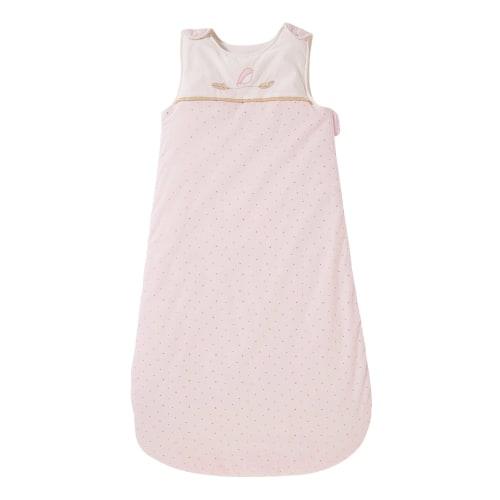 Gigoteuse bébé en coton rose à pois