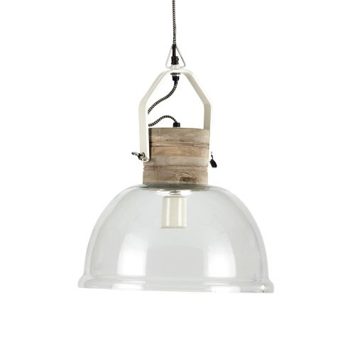 best sneakers 3d0bc bd939 Glass and Mango Wood Pendant Lamp