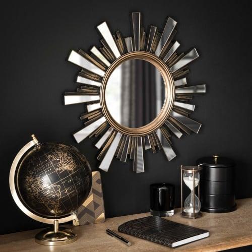 Tischuhr Eisen Metall Figur Katze Vintage Deko Uhr Tisch Regal Barock Dekoration