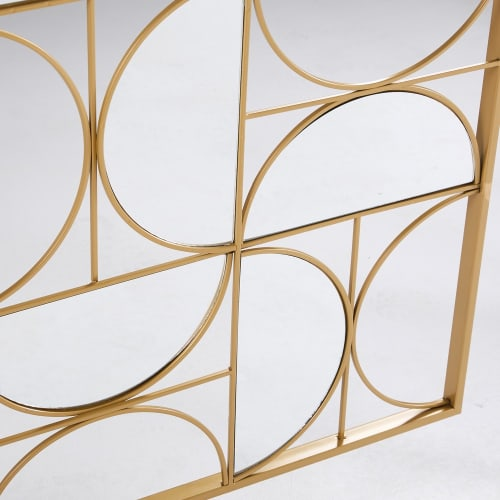 Gold Metal Mirror Wall Art 90 X 120 Cm Goldfinger Maisons Du Monde