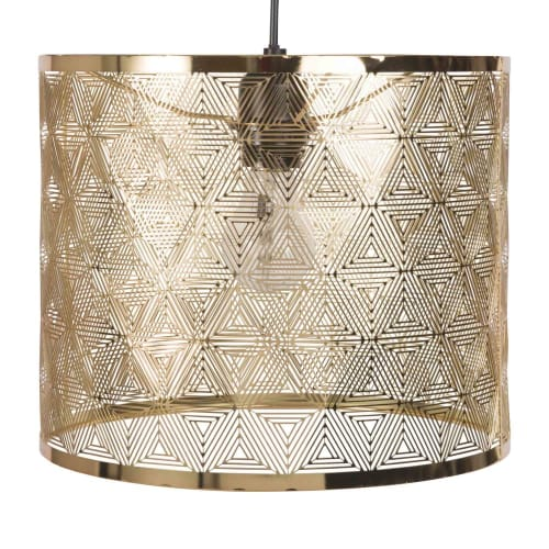Gold Openwork Metal Pendant Light Dhalma Maisons Du Monde