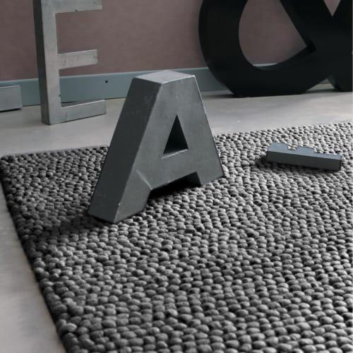 grauen wollteppich 200x300 maisons du monde