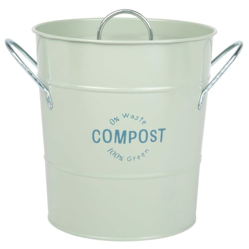 Green Metal Compost Bin Zero Dechet Maisons Du Monde