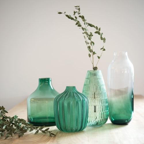 Green Tinted Glass Vase H 9 cm  Maisons du Monde