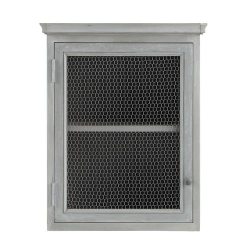 Fine Grey Acacia Wood Kitchen Wall Cabinet Right Opening W60 Interior Design Ideas Clesiryabchikinfo