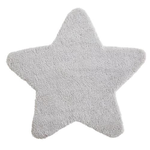 Grey Star Rug 100x100 Celeste Maisons