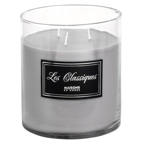 Kaars In Glas.Grijze Kaars In Glas Maisons Du Monde