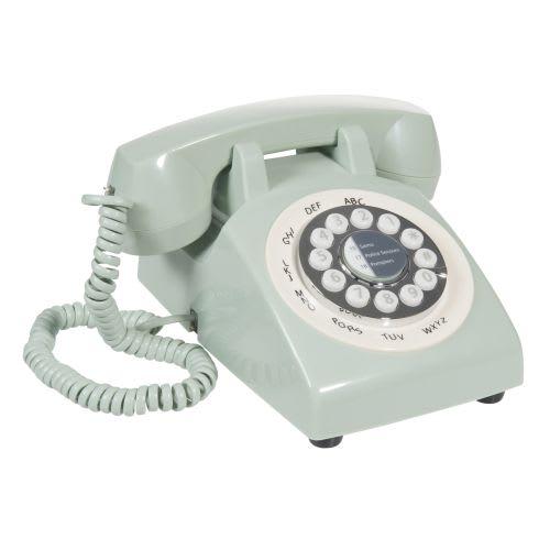 Contact Maison Du Monde.Groene Plastic Vintage Telefoon