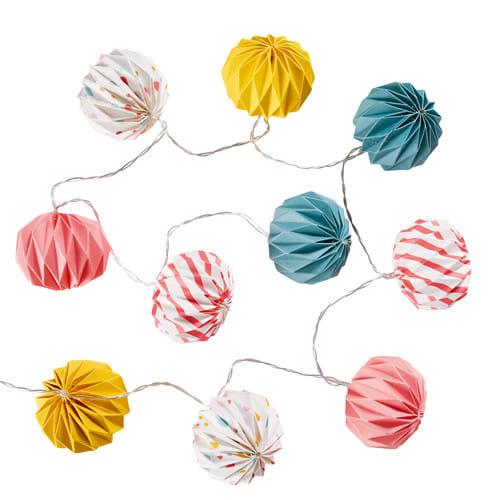Guirlande Lumineuse 10 Boules Led Multicolores L135
