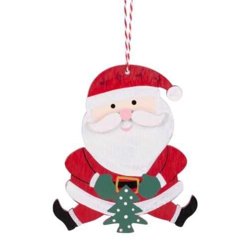 h ngedeko weihnachtsmann rot und wei maisons du monde