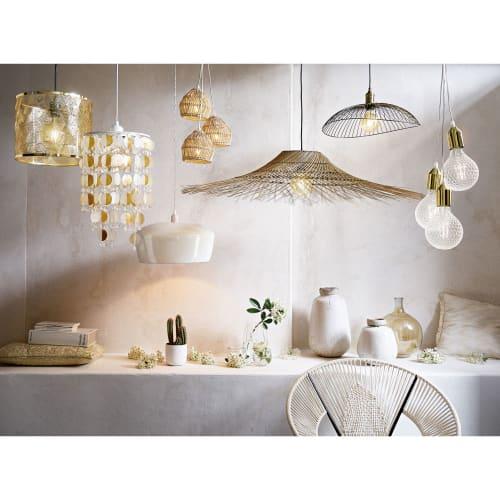 Hängelampe aus goldfarbenem perforiertem Metall | Maisons du Monde