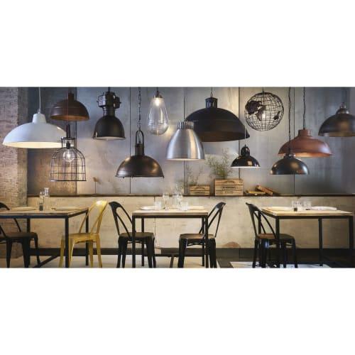 Hängeleuchte im Industrial Stil aus Metall mit Rosteffekt D51 | Maisons du Monde