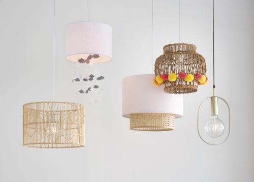 Hängeleuchte in Trommelform aus Rattan und Bambus, beige | Maisons du Monde
