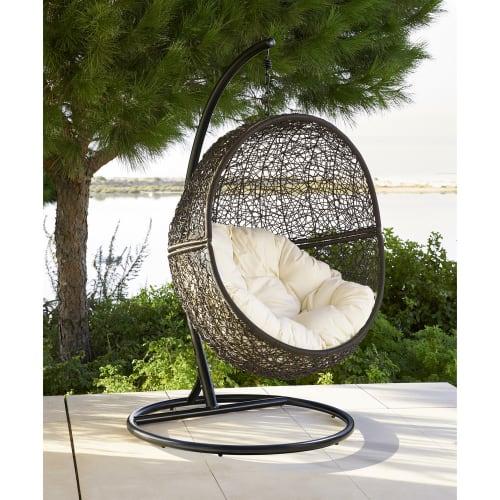 Hang Stoel Tuin.Hangstoel Voor In De Tuin Van Bruin Wicker Cocon Maisons Du Monde