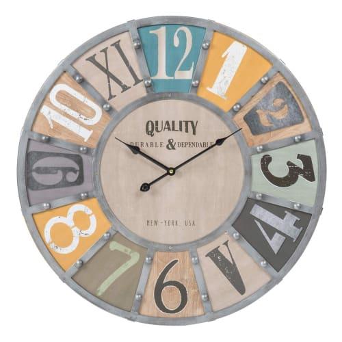 Horloge Avec Rivets D 60 Cm