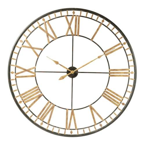 Horloge En Métal Noire D120
