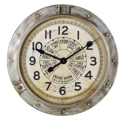 Horloge Indus En Metal Effet Vieilli D85 Midland Maisons Du Monde