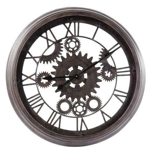 Horloge Indus En Metal Noire D82