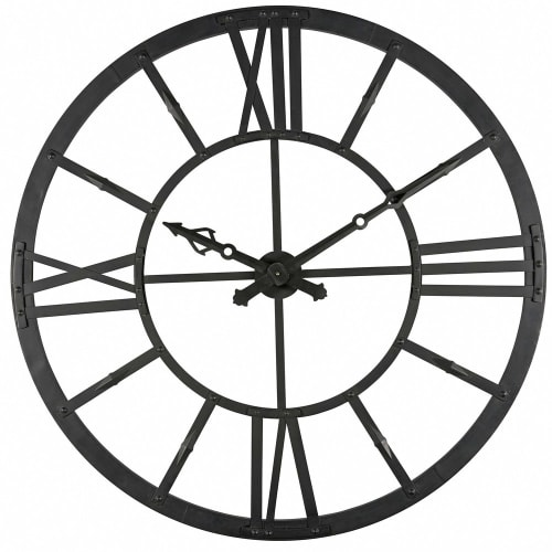 Horloge Lumineuse En Métal Noir D121cm
