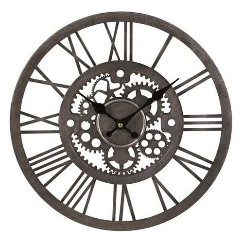Horloge Rouages En Metal Argente