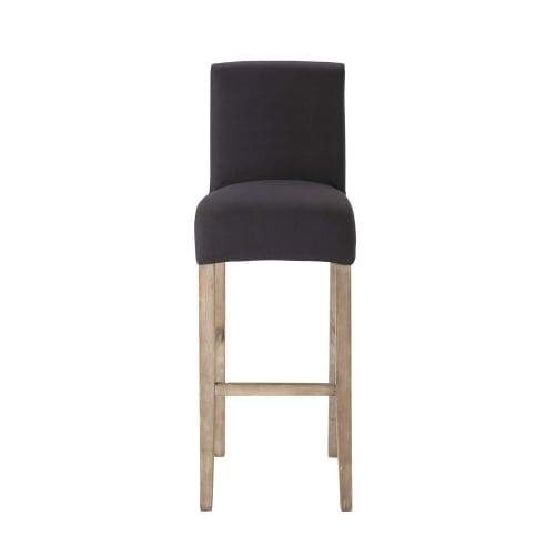 coton chaise de bar en anthracite de Housse n0wv8Nm