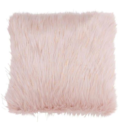 Housse de coussin fourrure rose – Maison du Monde