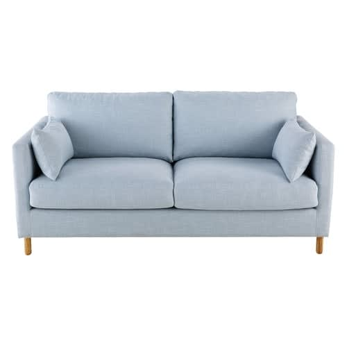 Iceberg Blue 3 Seater Sofa Bed